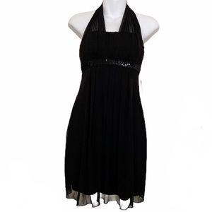 COPY - 🌿 3/$15 Sweet Storm Halter Black Dress